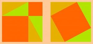 Grafisch bewijs van Pythagoras' driehoekstelling