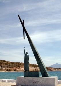 Standbeeld van Pythagoras op Samos
