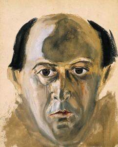 Schönberg, bruin zelfportret