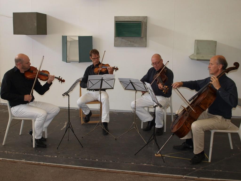 Pythagoras Kwartet speelt bij Artspace Flipside (foto W. Folkerts)