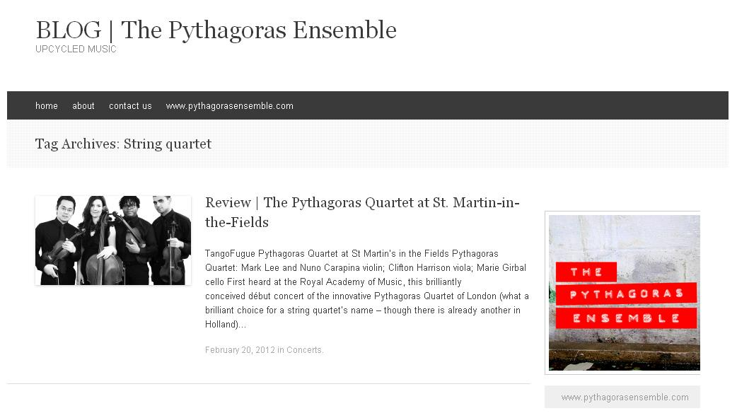 Pythagoras Quartet in Holland
