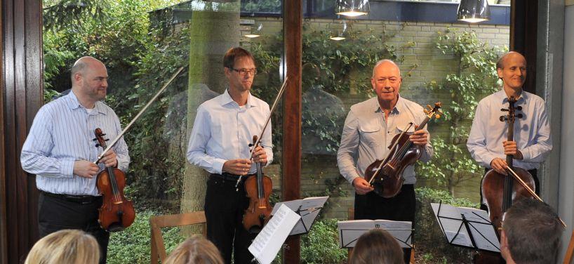 Pythagoras Kwartet bij het HuiskamerRondo 2014 in Duizel
