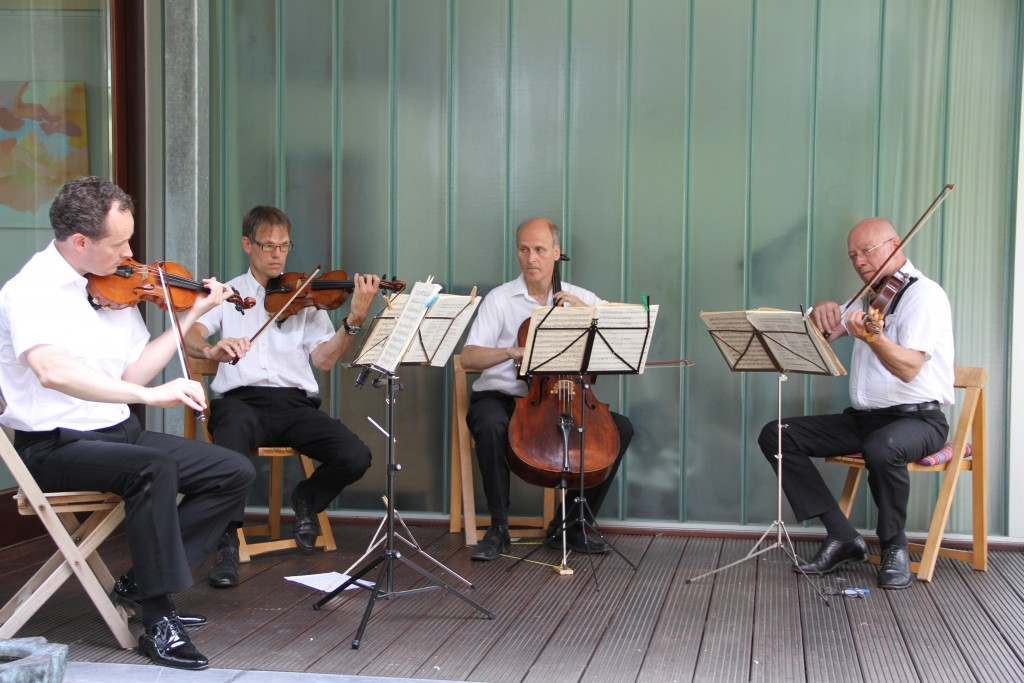 Pythagoras Kwartet in Beeldentuin Duizel (foto R.Huijbregts)