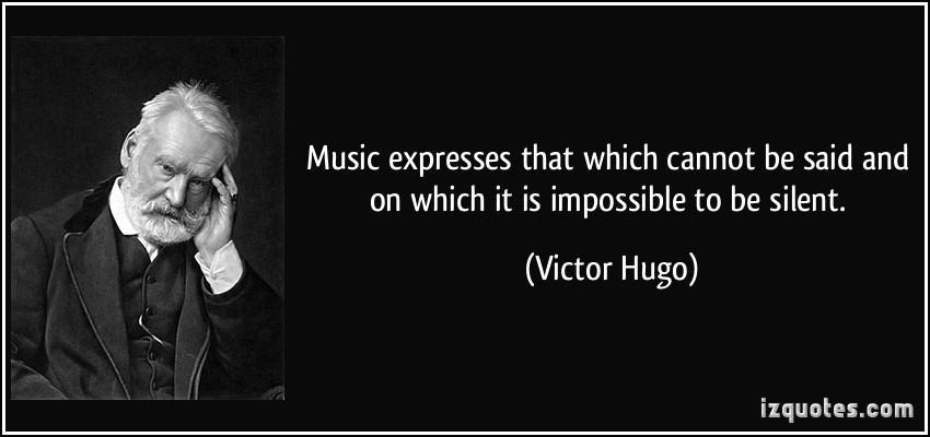 Ce qu'on ne peut dire et ce qu'on ne peut taire, la musique l'exprime